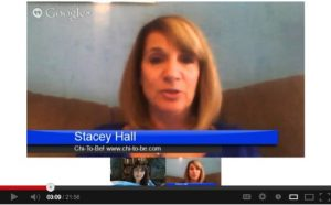 Stacey Hall and Caren Glasser on Google Hangout